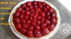 Recette Arte aux fraises au coulis de fraises