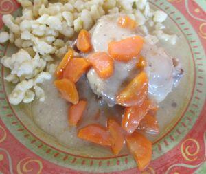 Recette Cuisse de poulet en blanquette