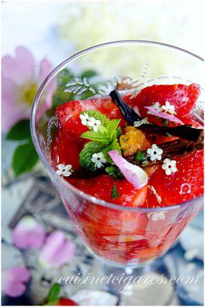 Recette Avec les dernières Fraises : Muffins aux Fraises et Salade de Fruits Agrumes & Fraises parfumée au sureau