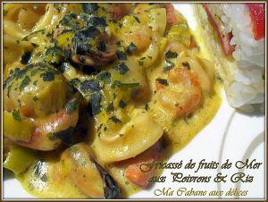 Recette Fricassee de fruits de mer et poivrons