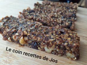 Recette Barres tendres aux dattes et aux noix