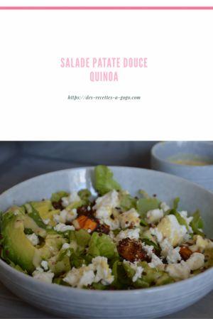 Recette Salade de patates douces et quinoa rouge