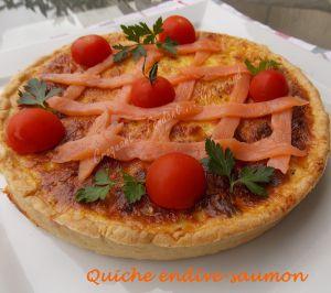 Recette Quiche endive-saumon