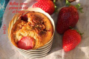 Recette Muffins au citron, graines de chia et fraises