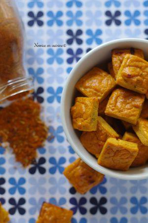 Recette Minis cubes au thon et aux épices