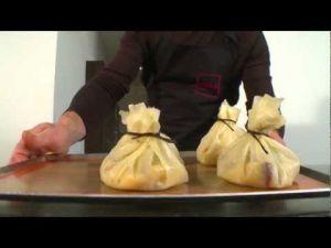 Recette Aumônières de poulet, dattes et vanille