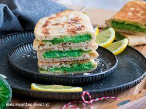 Recette Naan farci au brocolis et parmesan
