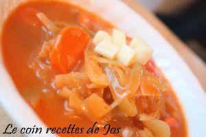 Recette Soupe au chou à la soupe aux  tomates
