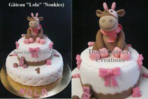 """Recette Gâteau """"Lola"""" (Noukies) en Pâte à sucre"""
