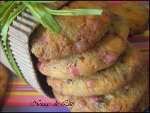 Recette Cookies à la Rose et Pralines Roses