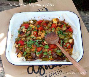 Recette Salade de légumes rôtis et halloumi