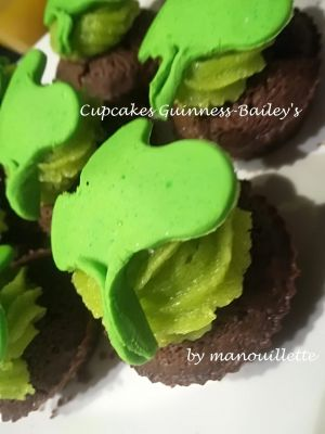 Recette Cupcake Guinness-Bailey's