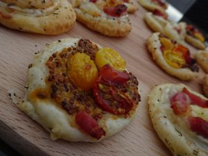 Recette Tartelettes tomates cerises - lardons #aperitif