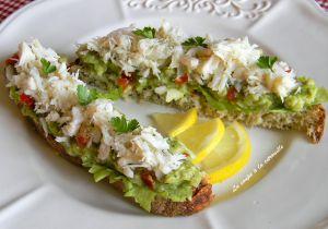 Recette Tartine de guacamole au crabe