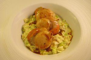 Recette Coquilles St Jacques et fondue de poireaux
