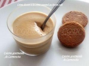 Recette Crème dessert à la crème caramel au beurre salé