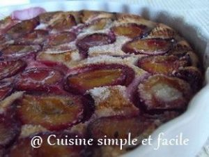 Recette Tarte aux quetsches sans pâte à tarte