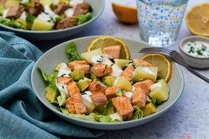 Recette Salade de pommes de terre, avocat et saumon
