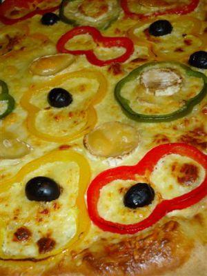 Recette Pizza aux poivrons 3 couleurs