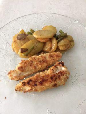 Recette Aiguilettes de poulet panées