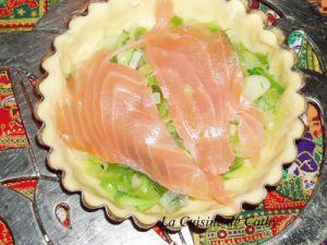 Recette Quiche au poireau et saumon