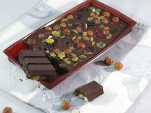 Recette Tablette de chocolat garnie