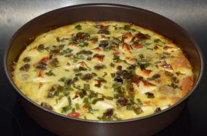Recette Frittata aux légumes et feta (IG bas)