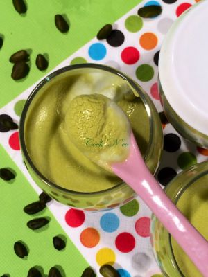 Recette Yaourts à la pistache (pour 7 yaourts)