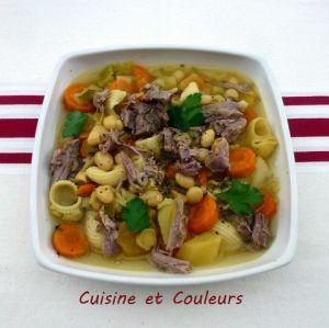 Recette Soupe-repas du samedi, aux cocos, légumes et un peu d'agneau