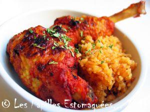 Recette Poulet tandoori et riz au bouillon de poulet