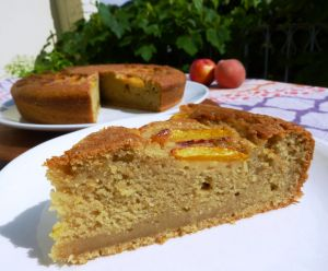 Recette Gâteau moelleux aux pêches #végétalien