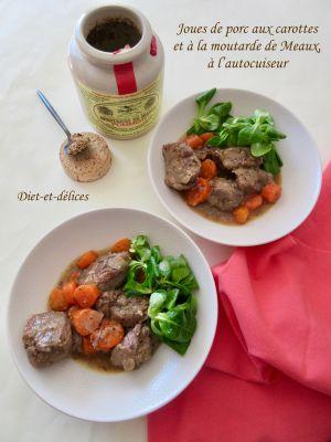Recette Joues de porc aux carottes et à la moutarde, à l'autocuiseur