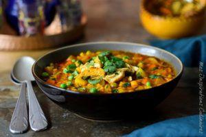 Recette Berkoukes au poulet, recette algérienne