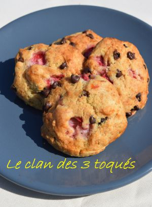 Recette Cookie coco choco fraise