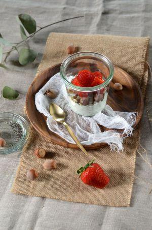 Recette Yaourt de brebis aux graines de chia et fraises