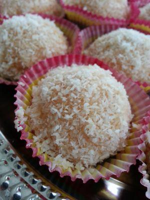 Recette Boules fondantes noix de coco et confiture