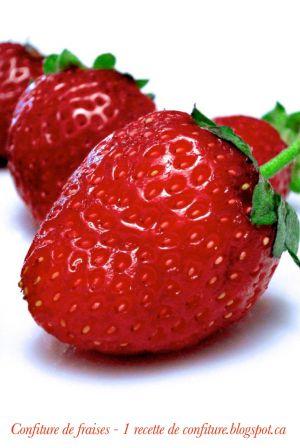 Recette Confiture de fraises