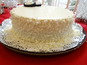 Recette Gâteau au chocolat blanc et caramel au beurre salé