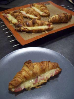 Recette Croissant au jambon