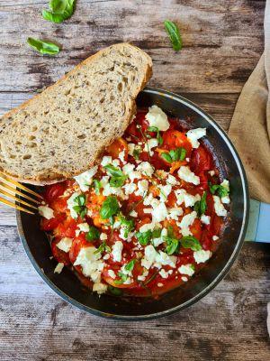 Recette Crevettes à la sauce tomate et feta