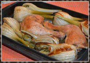Recette Cuisses de poulet et fenouil rôtis