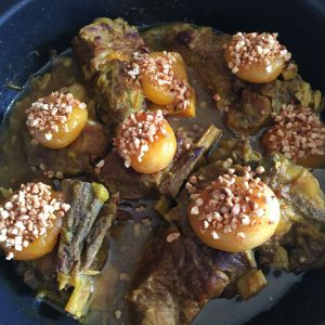 Recette Tajine de veau aux amandes et aux abricots