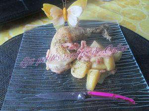 Recette Cuisse de poulet à la Normande