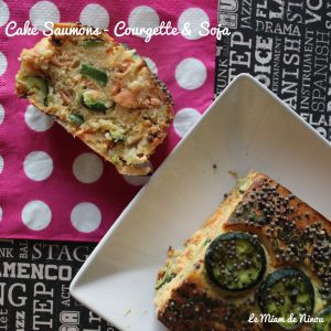 Recette Cake Saumons - Courgettes & Soja