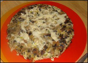 Recette Frittata de champignons frais et poireaux