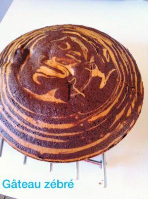 Recette Du cake zébré ou zebra cake marbré