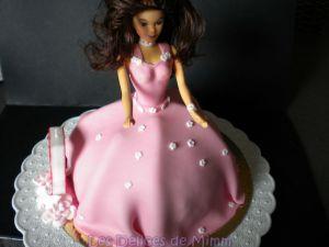 Recette Gâteau Princesse Valina (gâteau Barbie, pâte à sucre)