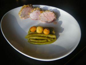 Recette Filet mignon de porc en croûte de macadamia