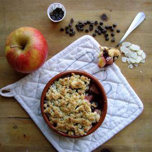 Recette Crumble pomme-cerise-chocolat
