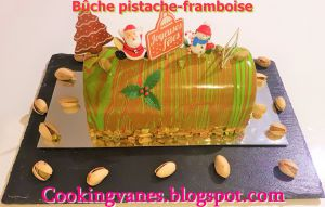 Recette Bûche pistache-framboise